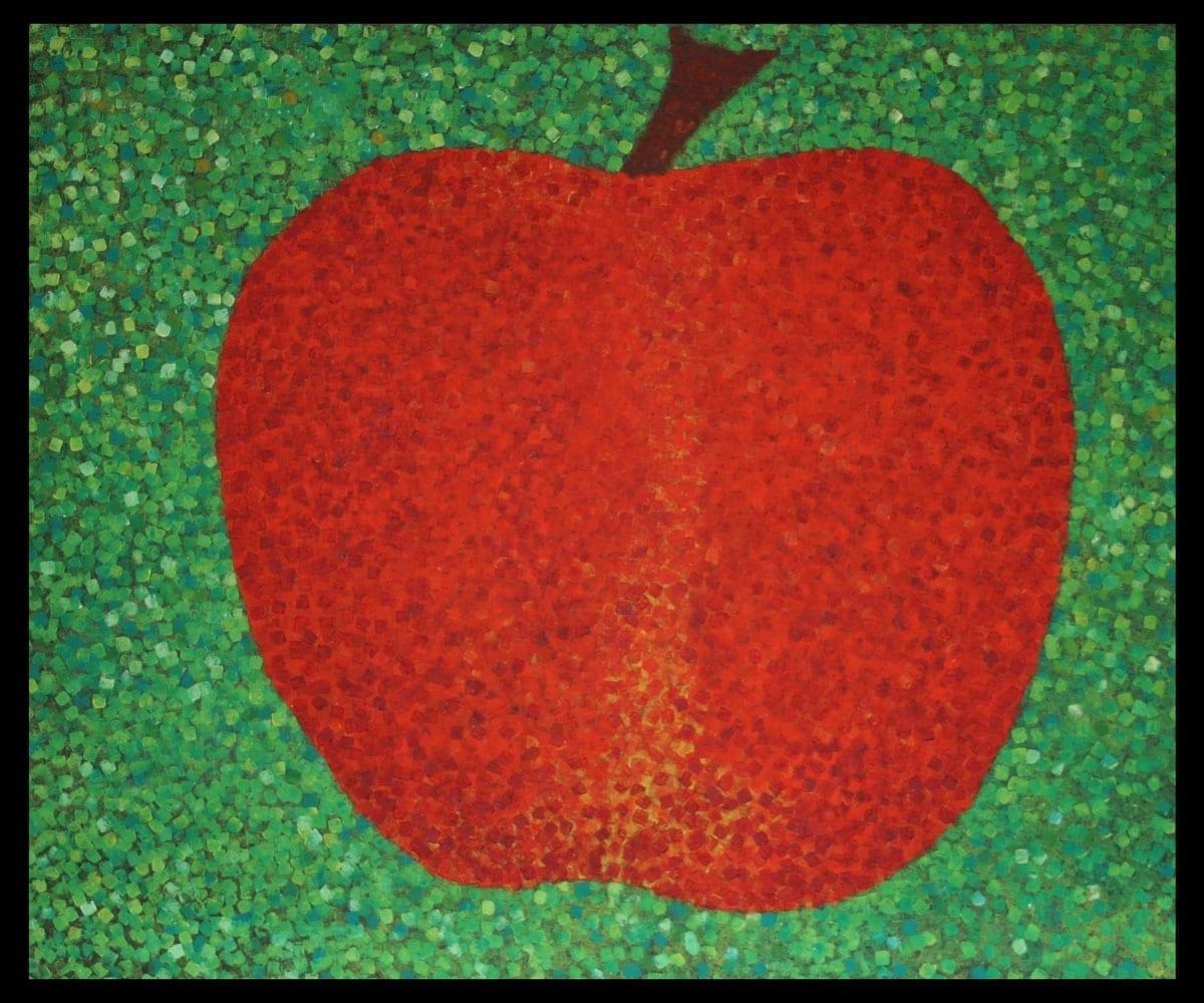 Pomme, huile sur toile